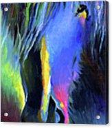 electric Stallion horse painting Acrylic Print by Svetlana Novikova