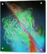 Electric Triangle In Green Acrylic Print