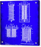 Electrical Battery Patent Drawing 1e Acrylic Print