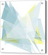 Electricity Polygon Pattern Acrylic Print