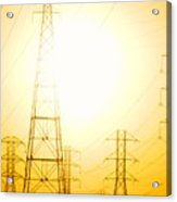 Electricity Towers Acrylic Print