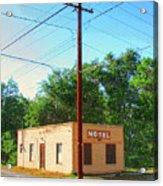 Electromagnetic Motel Acrylic Print
