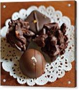 Elegant Chocolate Truffles Acrylic Print by Louise Heusinkveld