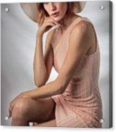 Elegant Johanna In Peach Acrylic Print