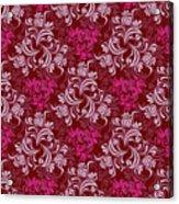 Elegant Red Floral Design Acrylic Print
