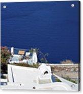 Elegant Restaurant In Santorini, Greece  Acrylic Print