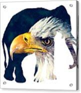 Elephant And Eagle Acrylic Print