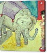 Elephant Betty And Clown Acrylic Print