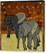 Elephant Calves Acrylic Print