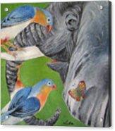 Elephant Fantasy1 Acrylic Print
