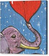 Elephant Love Acrylic Print