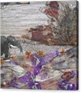 Elephant On Steep Road Acrylic Print