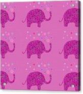 Elephant Pattern Acrylic Print