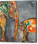 Elephant Play Day Acrylic Print