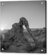 Elephant Rock Sunrise Bw  Acrylic Print