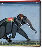 Elephant & Trainer, C1750 Acrylic Print
