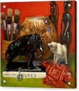 Elephants and Ingres Acrylic Print