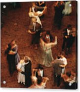 Elevated View Of Ballroom Dancers Acrylic Print by Ira Block