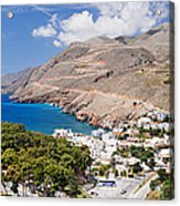 Elevated View Of The Hora Sfakion Acrylic Print