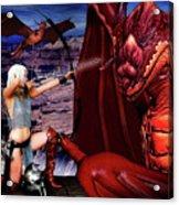 Elf Vs Dragon Acrylic Print