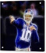 Eli Manning Acrylic Print by Paul Ward