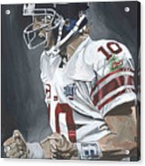 Eli Manning Super Bowl Mvp Acrylic Print by David Courson