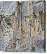 Elijah Weber Climbs A Route Called Thin Slice  Acrylic Print