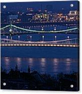Elizabeth And Liberty Bridges Budapest Acrylic Print