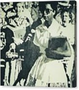 Elizabeth Eckford Making Her Way To Little Rock High School 1958 Acrylic Print