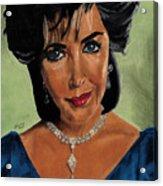 Elizabeth Taylor And La Paragrina Pearl Acrylic Print by Jeffrey J Steinberg