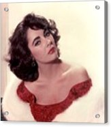 Elizabeth Taylor Diamond Are Forever With Her Collectin Acrylic Print