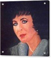 Elizabeth Taylor Portrait Acrylic Print
