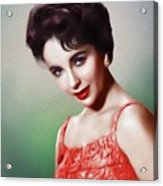 Elizabeth Taylor, Vintage Movie Star Acrylic Print