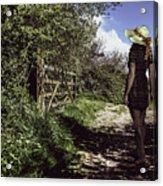 Eliza's Walk In The Countryside. Acrylic Print