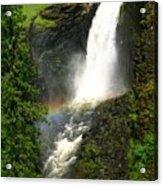 Elk Creek Falls Rainbow Acrylic Print
