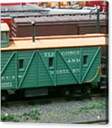 Elk Gorge And Western Caboose Acrylic Print