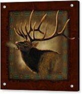 Elk Lodge Acrylic Print by JQ Licensing