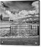 Elk River Valley In Infrared Acrylic Print