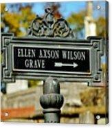 Ellen Axson Wilson Acrylic Print