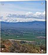 Ellensburg Valley With Sagebrush And Lupine Acrylic Print