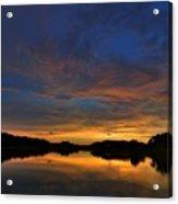 Ellenton Lake Sunset 01 Acrylic Print