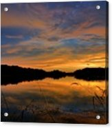 Ellenton Lake Sunset 02 Acrylic Print