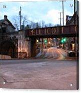 Ellicott City Nights - Entrance To Main Street Acrylic Print