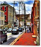 Ellicott City Sidewalk Acrylic Print