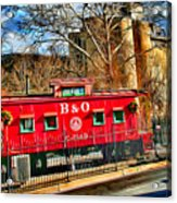 Ellicott City Train And Factory Acrylic Print