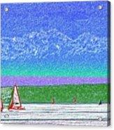 Elliott Bay Sail Acrylic Print