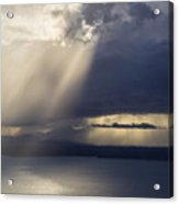 Elliott Bay Storm Clouds Ferry Acrylic Print