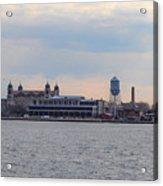 Ellis Island Panorama Acrylic Print
