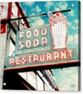 Elliston Place Soda Shoppe - Square Crop Acrylic Print by Amy Tyler