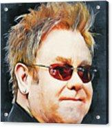 Elton john classic portrait Acrylic Print